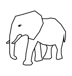 African animal icon elephant design vector