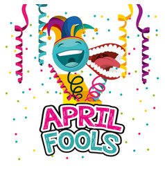 April fools day card vector