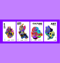 Art culture and fashion colorful abstract poster vector
