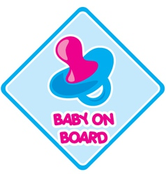 Baby on board 1 vector