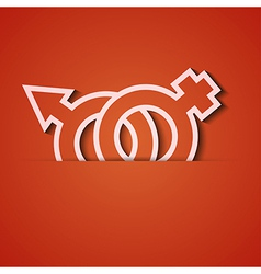 background Orange icon applique Eps10 vector image