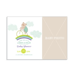 Bashower card with photo frame vector