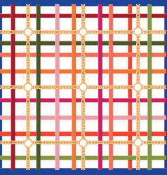beltschains geometric seamless pattern colorful vector image