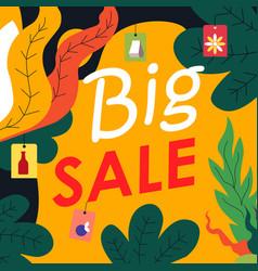 big sale promotional banner for shop or store vector image