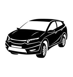 black car sign vector image