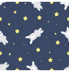 Bunny-astronaut in open space vector