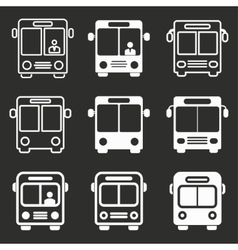 Bus icon set vector image