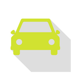 car sign pear icon with flat style vector image