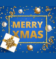 christmas card on blue vector image