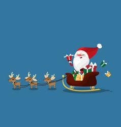 Christmas character santa claus in a sleigh vector