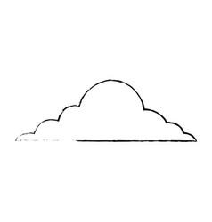 Cloud sky weather cumulus view scene vector
