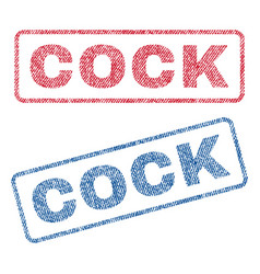 Cock textile stamps vector