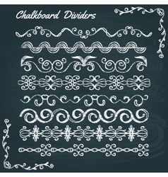 Collection of chalkboard dividers vector