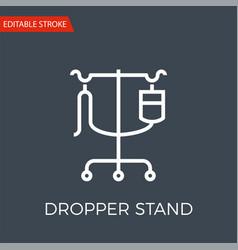 Dropper stand thin line icon vector