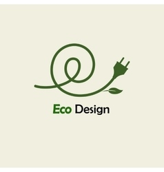 Eco Energy Symbolic sprout plant spiral and plug vector image