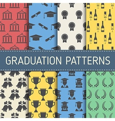 Education Graduation Pattern Collection vector image