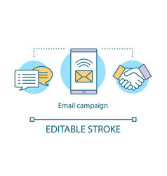 Email campaign concept icon brand promotion idea vector