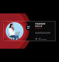 Fashion shop shopping super sale social mediacover vector