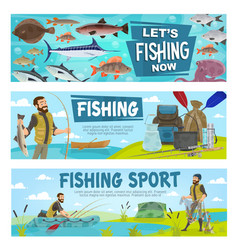 fishing sport and fishery leisure activity vector image