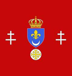 Flag of calais in pas-de-calais vector