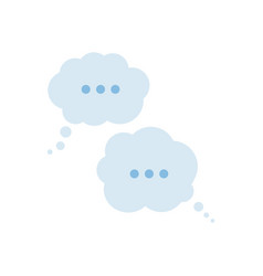 flat blue empty speech bubbles icon vector image