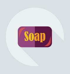 Flat modern design with shadow icons soap vector