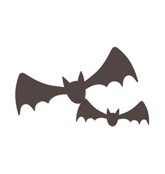 flying bats animals isolated design icon vector image