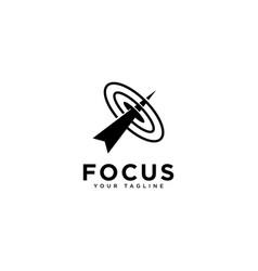 Focus target logo design template vector
