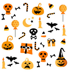 halloween party seamless pattern design postcard vector image