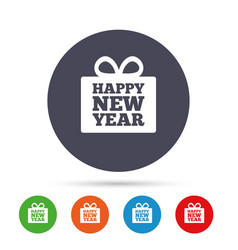 Happy new year gift sign icon present symbol vector