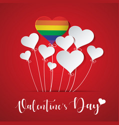 heart balloon for lgbt vector image