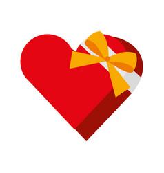 heart giftbox present isolated icon vector image