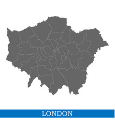 high quality map ofcity in united kingdom vector image