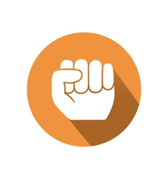 Hold gesture vector image