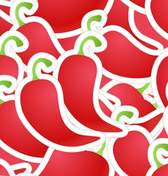 Hot red pepper seamless background vector image