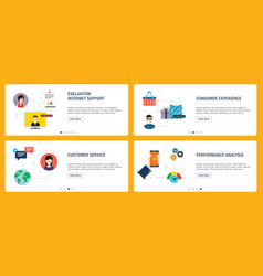 internet banner set evaluation customer vector image