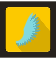 Light blue wing icon flat style vector image