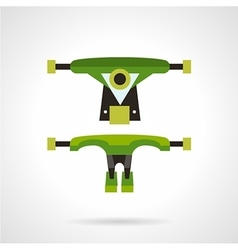 Longboard suspension flat icon vector
