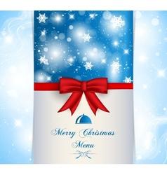 Merry Christmas menu vector