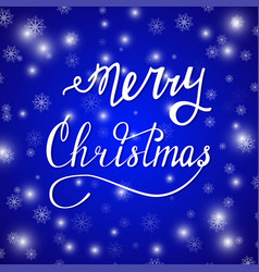 merry xmas blue vector image