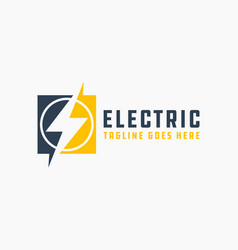 modern high voltage electrical industry logo vector image