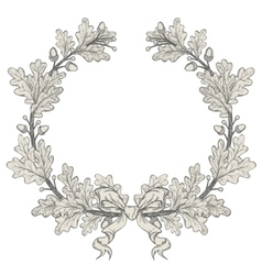 Oak Wreath vector image