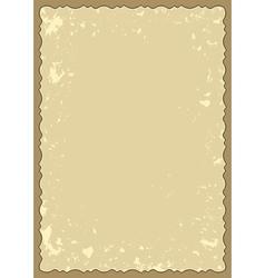 Old frame with grunge background vector
