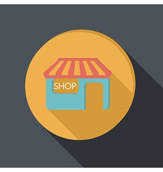 paper flat icon shop building vector image