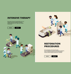 people rehabilitation doctor care to disabled vector image