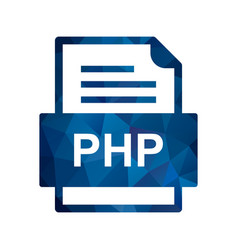 Php file document icon vector