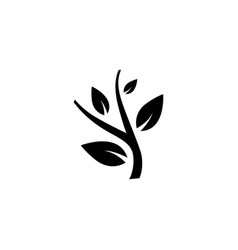plant icon in flat style for apps ui websites vector image