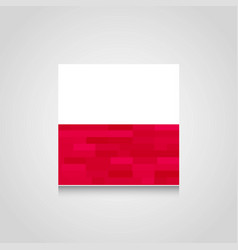 Poland abstract flag background vector