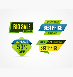 price tag sale offer banner discount promotion vector image