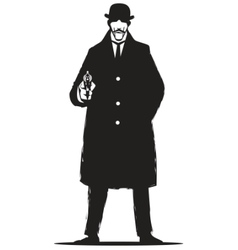 Private detective vector